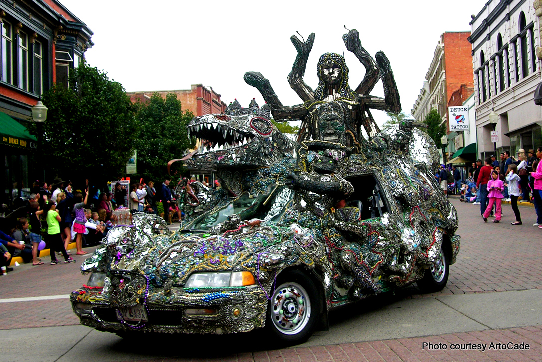 crazy art car at ArtoCade in Trinidad, Colorado.