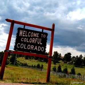Resolve to visit a new place. Welcome to Colorful Colorado sign. HeidiTown.com
