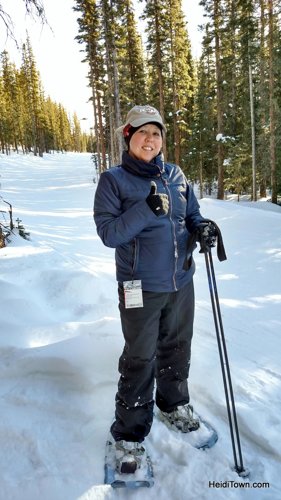 Why it's easy to #OptOutside in Colorado. Snowshoeing at Telluride Ski Resort. HeidiTown.com