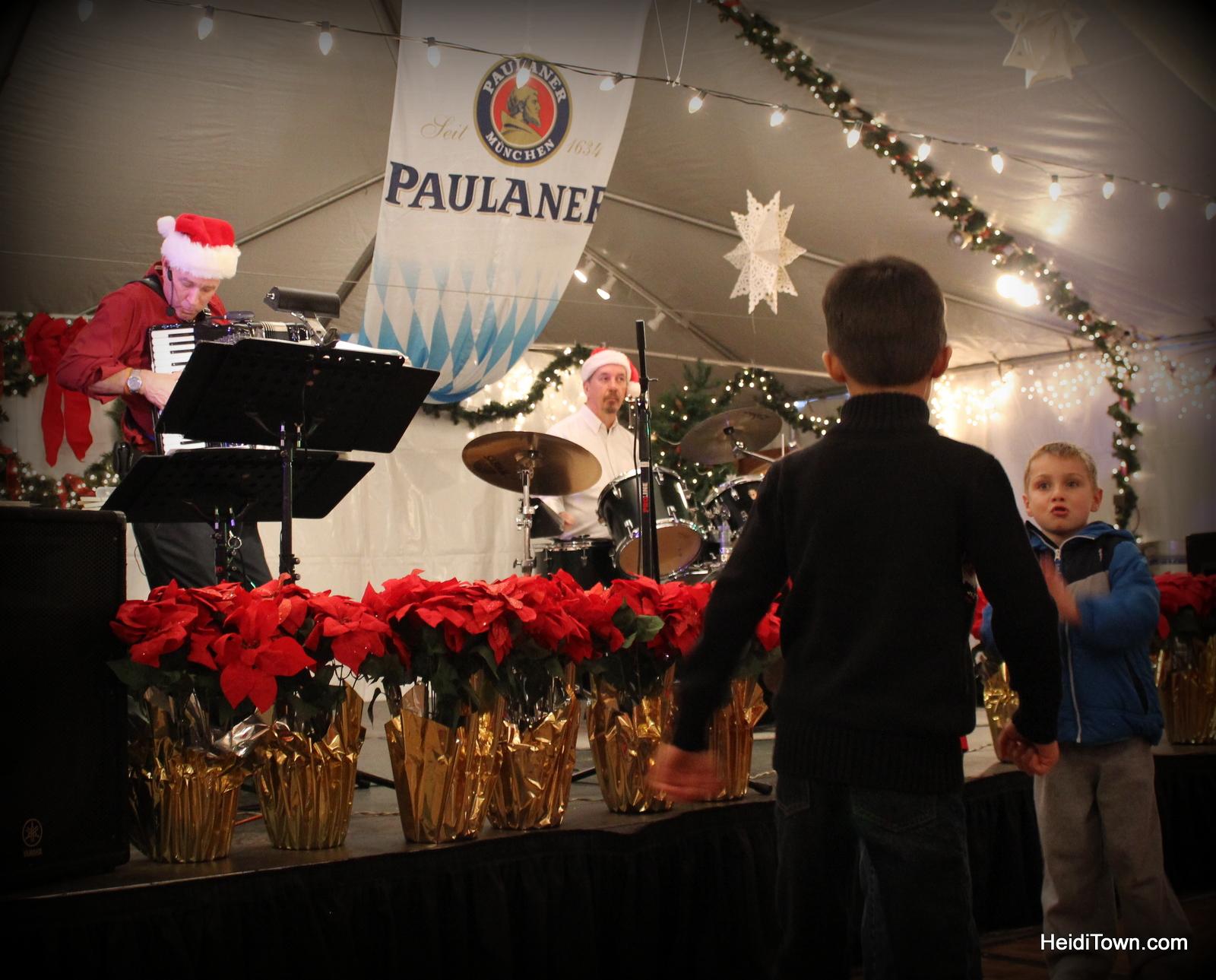 dancing kids at Denver Christkindl Market 2014. HeidiTown.com