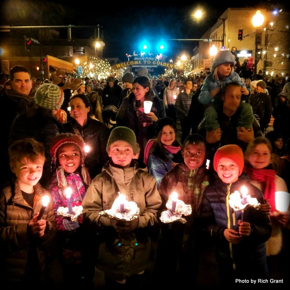 Golden Colorado Candlelight Parade, Photo by travel writer Rich Grant