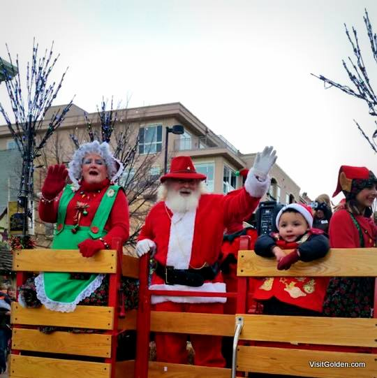 Holiday Parade in Golden, Colorado. Photo courtesy of VisitGolden.com