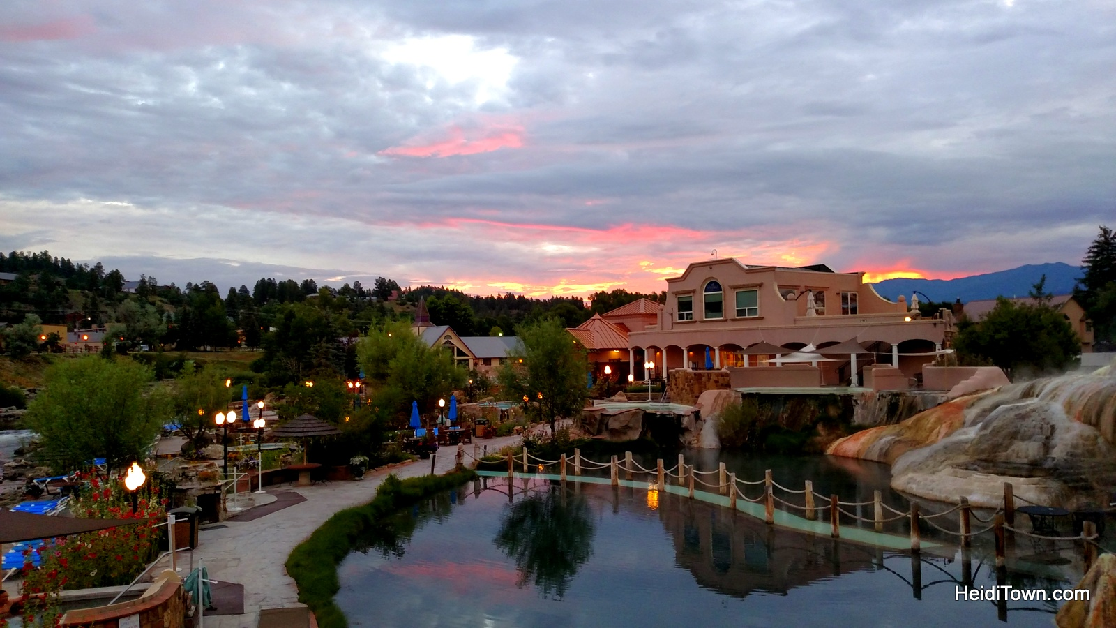 Top 10 HeidiTown Highlights of 2015. Sunrise at The Springs in Pagosa Springs, Colorado.