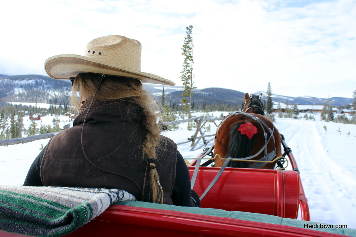 A sleigh ride at snow mountain ranch. Natalie & Rufio. HeidiTown.com