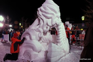 Budweiser International Snow Sculpture Championships, Team Minnesota, Third Place.  HeidiTown (2)