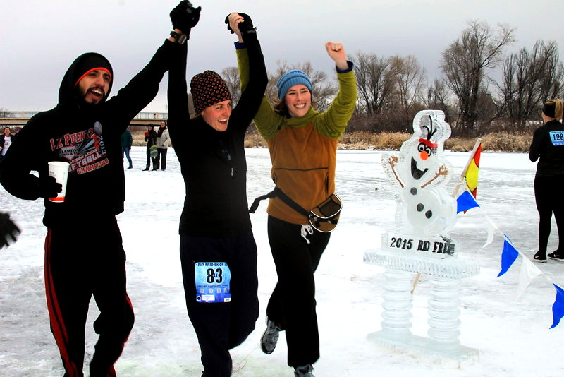 Rio Frio on Ice finish line. Featured Festival, HeidiTown.com