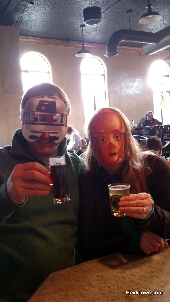 Eating our way through Alamosa, Colorado. San Luis Brewing Co. Rio Frio Star Wars. HeidiTown.com