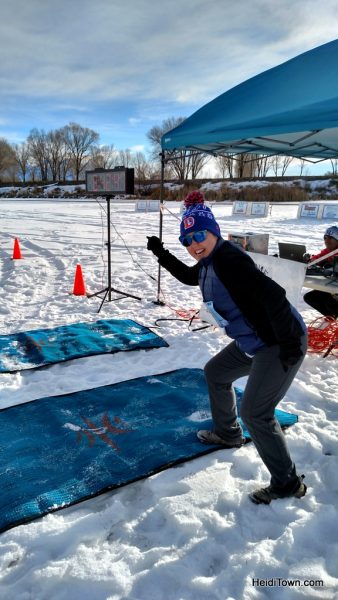 Ready to start the Rio Frio on Ice 5k in Alamosa, Colorado. HeidiTown.com