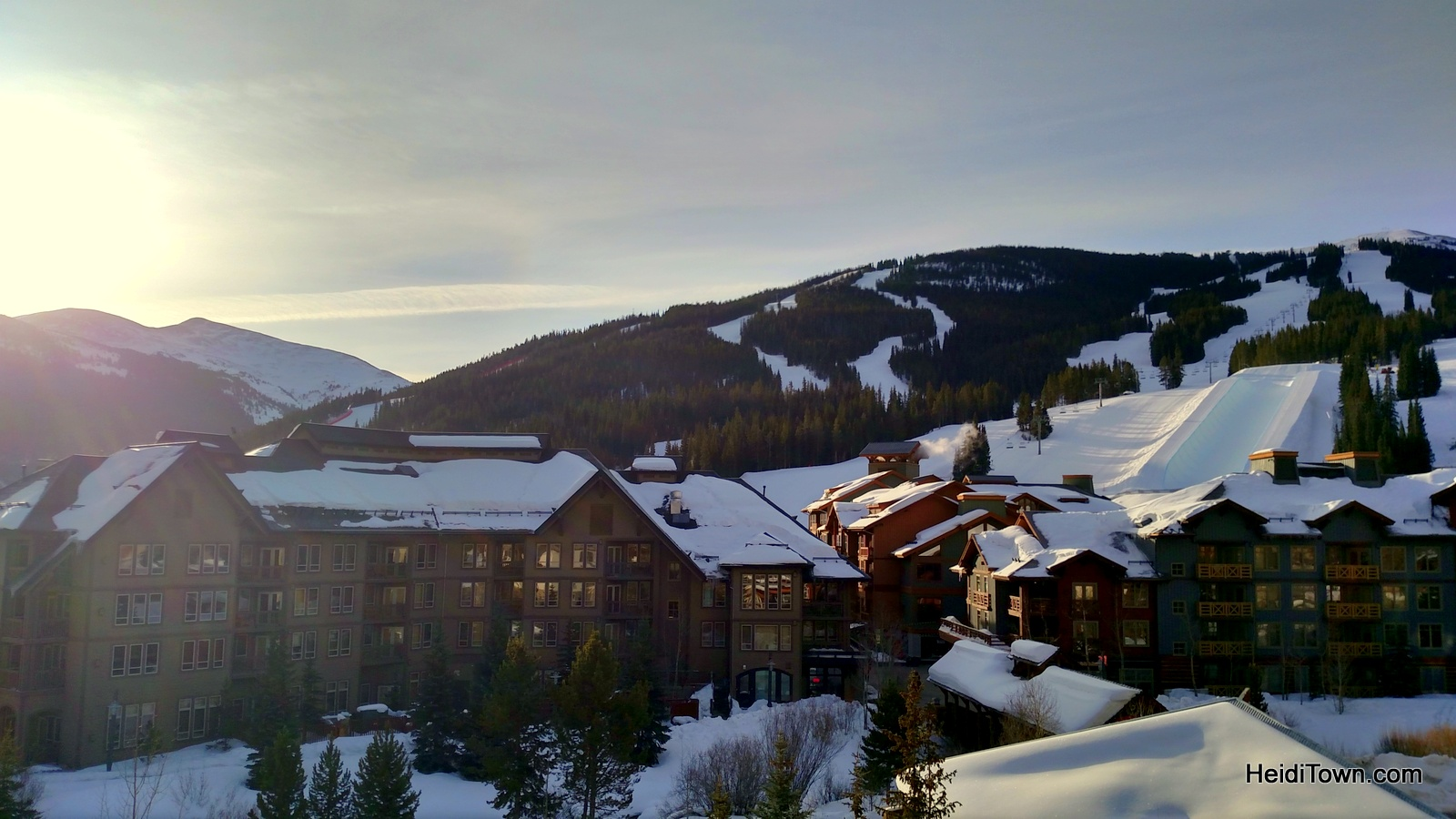 The view from our Passage Point condo in Copper Mountain. HeidiTown.com
