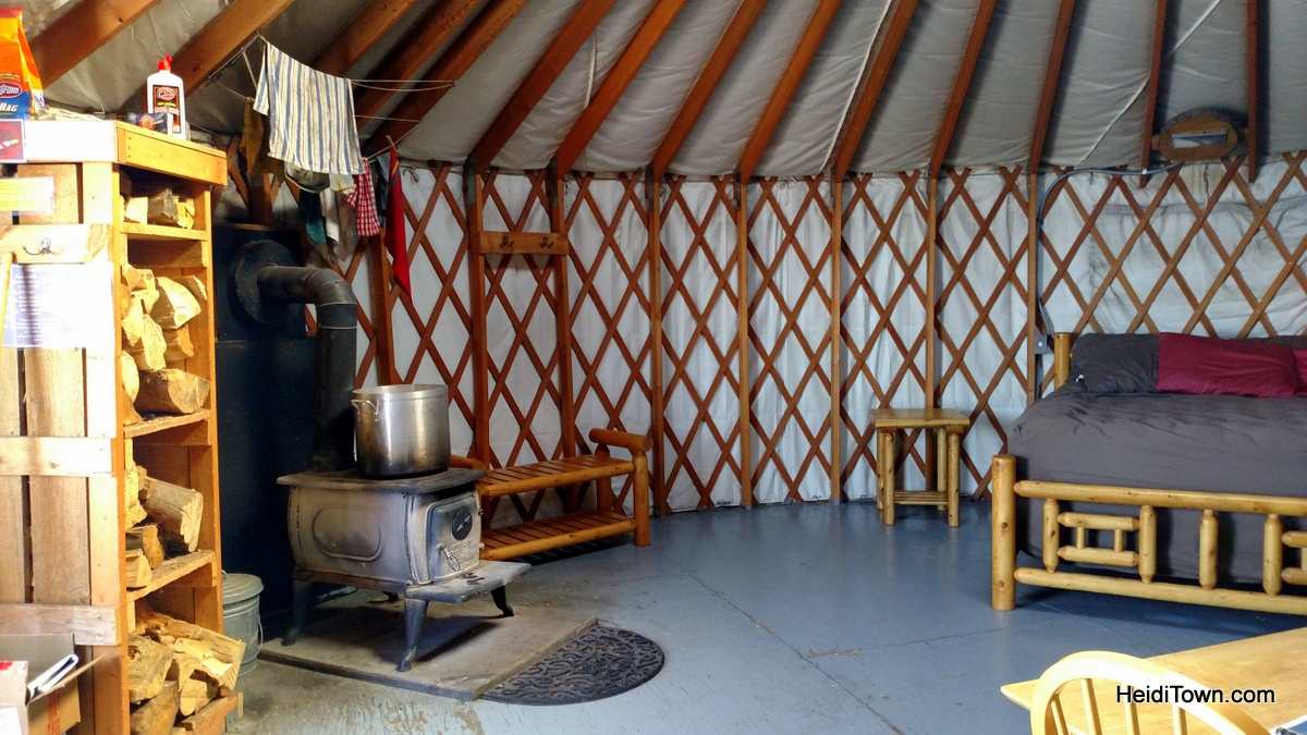 The yurt life is the life for me. The inside of the Sunset Yurt near Cameron Pass, Colorado. HeidiTown.com