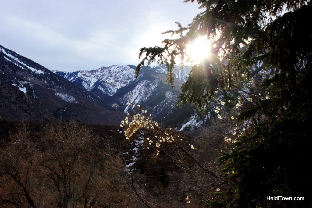 The view from our cabin at Avalanche Ranch Hot Springs. HeidiTown.com