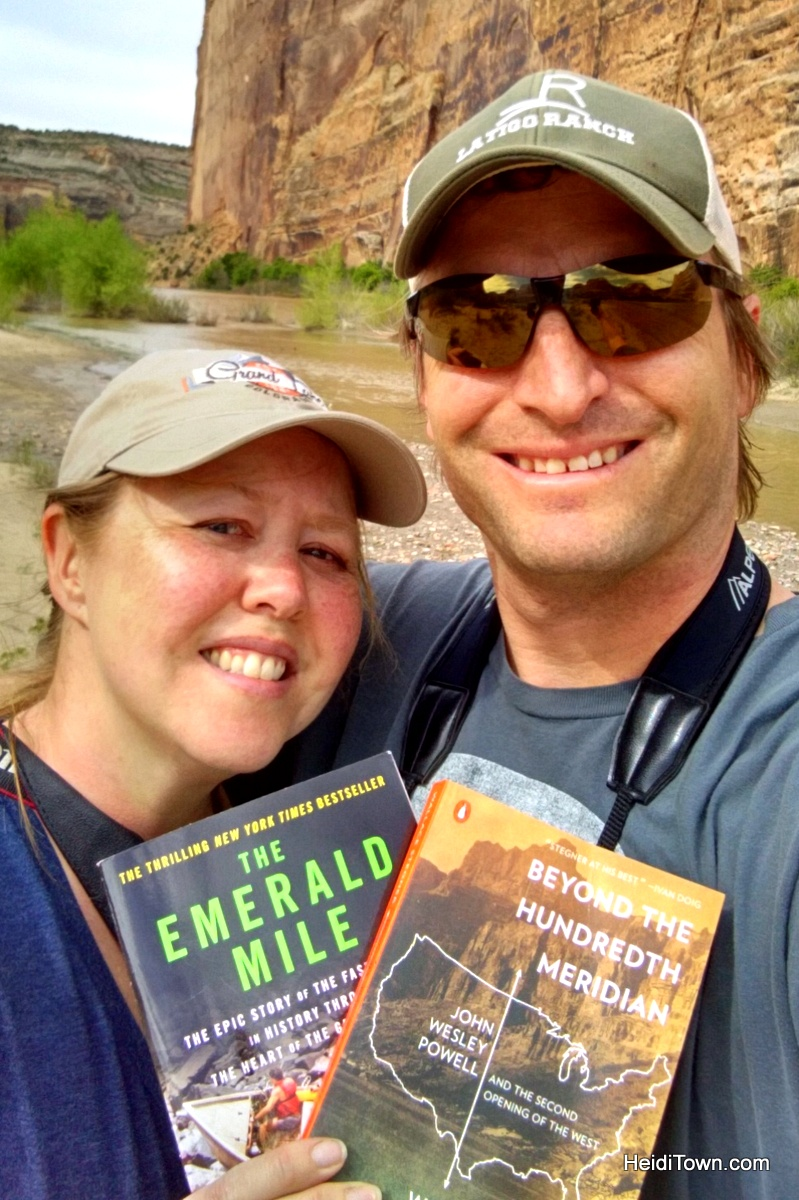 Camping at Echo Park at Dinosaur National Monument. The books that inspired our trip. HeidiTown.com