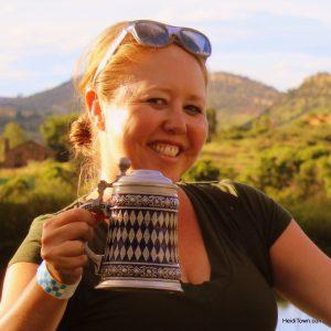The Mayor of HeidiTown at Biergarten Festival. Heidi Kerr-Schlaefer, writer, blogger, small business owner.