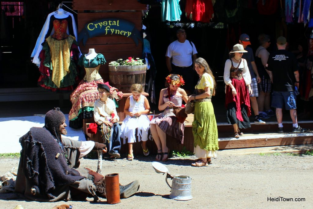 win tickets to the Colorado Renaissance Festival. Begger man. HeidiTown.com