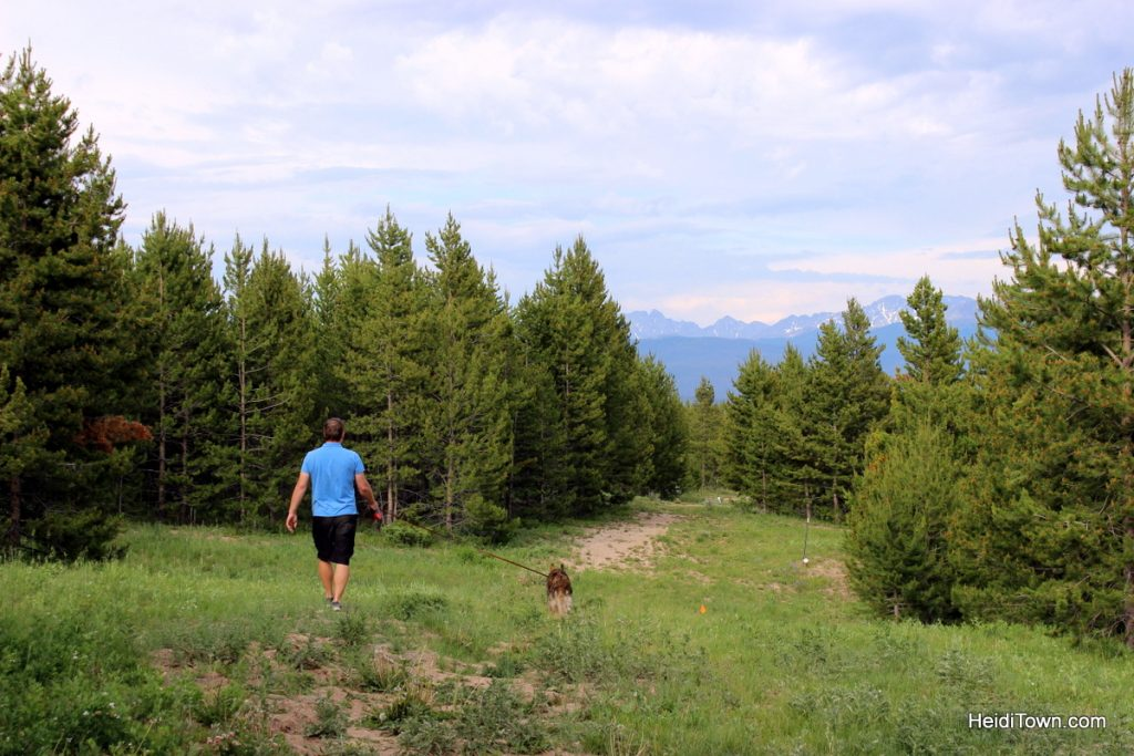 A stay at Yurt Village at Snow Mountain Ranch. walking xena at the frisbee golf course. HeidiTown.com
