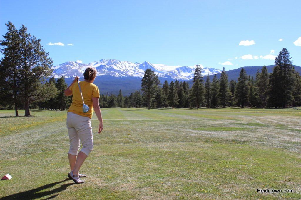 golfing Mt. Massive Golf Course in Leadville, Colorado. HeidiTown.com