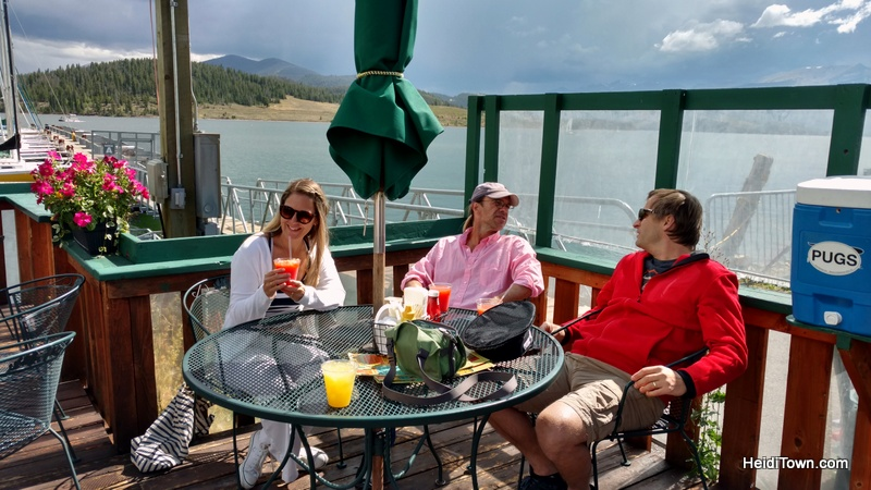 Fall in Love with Frisco, Colorado this fall. Pug Ryan's Tiki Bar at Dillon Marina. HeidiTown.com