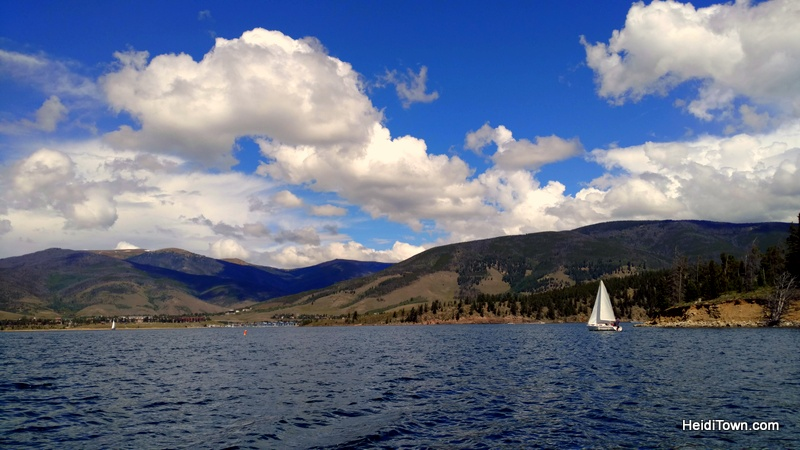Fall in love with Frisco, Colorado this autumn. Sailboat on Lake Dillon taken from our Pontoon Boat. HeidiTown.com