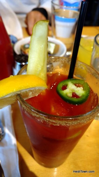 Fall in love with Frisco, Colorado this fall. bloody mary at Bread & Salt. HeidiTown.com