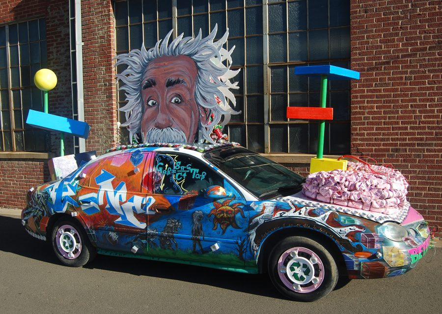 Featured Festival ArtoCade 2015 Trinidad Colorado. Einstein artcar. HeidiTown.com