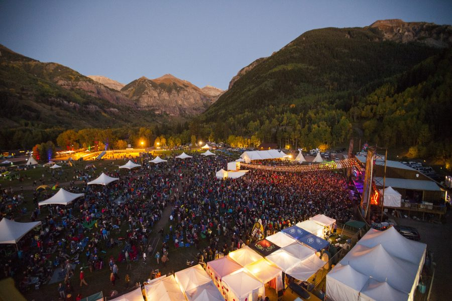 Telluride Blues & Brews night shot. Featured Festival
