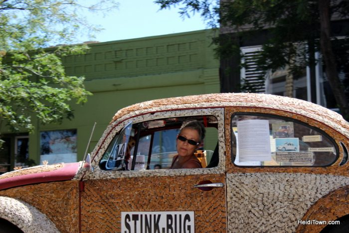 The Stink Bug art car at ArtoCade 2016. By Carolyn Stapleton of Albuquerque, New Mexico.