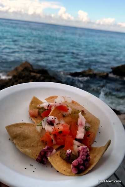 11-things-you-should-know-before-visiting-cozumel-mexico-ceviche-at-playa-azul-beach-bar