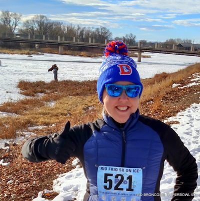 Best of HeidiTown 2016, Rio Frio on Ice, 5K on the Rio Grande Rive river in Alamosa, Colorado.