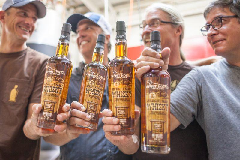 Whiskey, Lights, Pinball. Award winning whiskey at Spirit Hound Distillers. HeidiTown.com