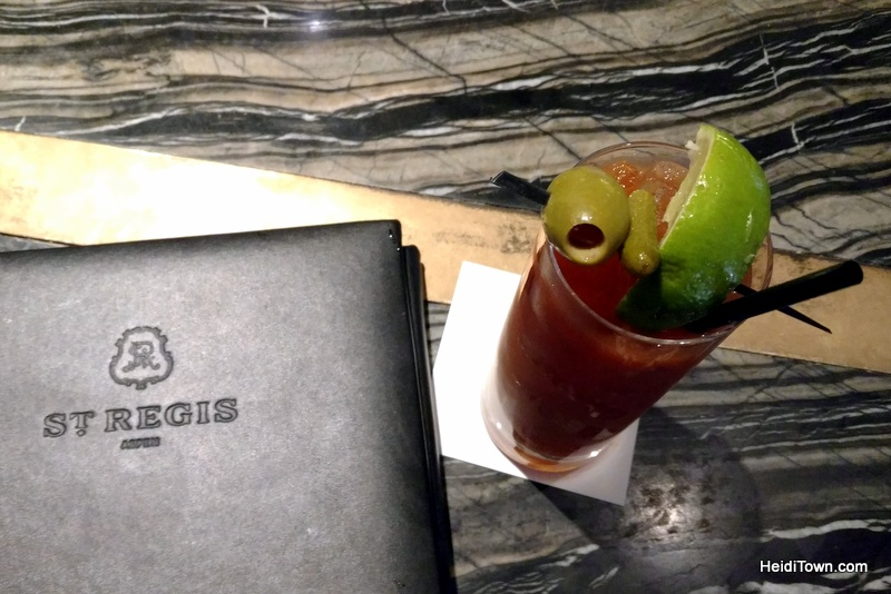 When Visiting Aspen, Colorado, Eat All the Things. Bloody Mary at the St. Regis. HeidiTown.com