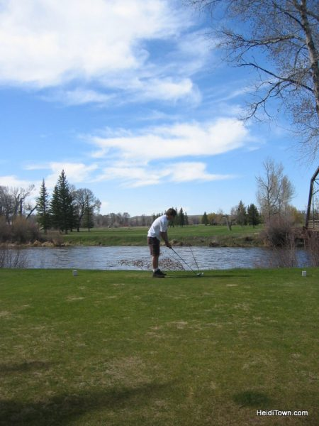 14 Anniversary Trips, golf at Saratgoa Resort, Wyoming. HeidiTown.com