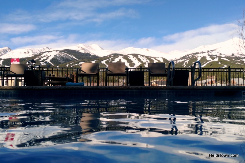 New Things to Do in Breckenridge, Colorado. View from Residence Inn pool. HeidiTown.com
