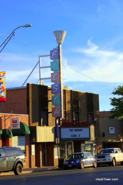 Cortez, Colorado, Blending the Past & Present, Fiesta Theater retro sign. HeidiTown.com