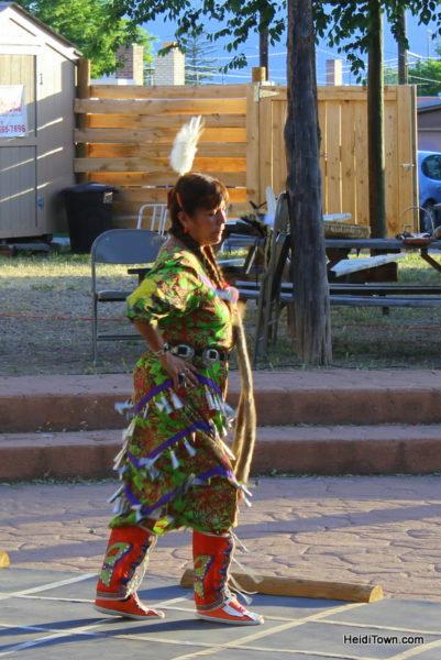 Cortez, Colorado, Blending the Past & Present. Native American Dancer. HeidiTown.com