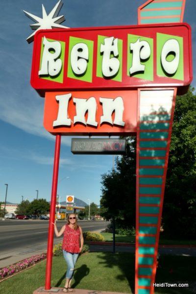 Cortez, Colorado, Blending the Past & Present. Retro Inn. HeidiTown.com