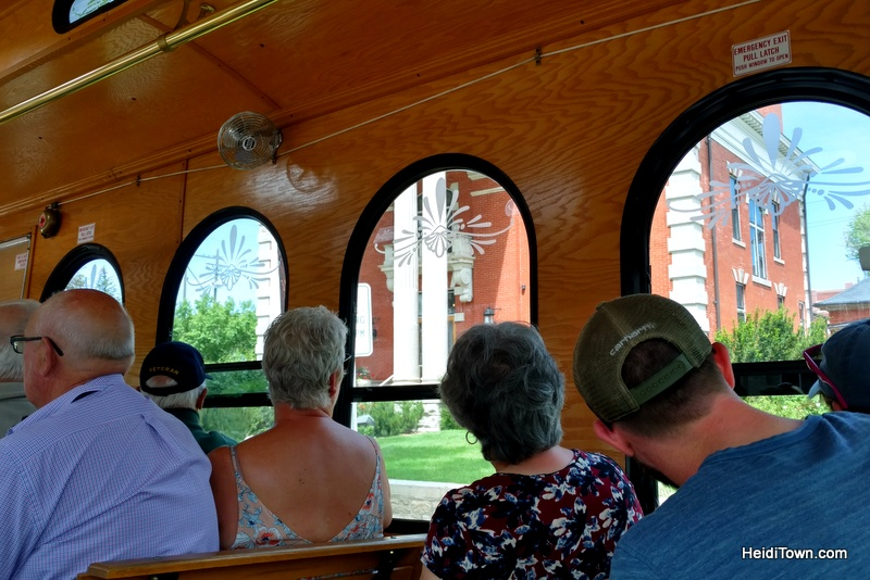 A Jolly Trolley Ride in Cheyenne, Wyoming. The governors mansion in Cheyenne. HeidiTown.com