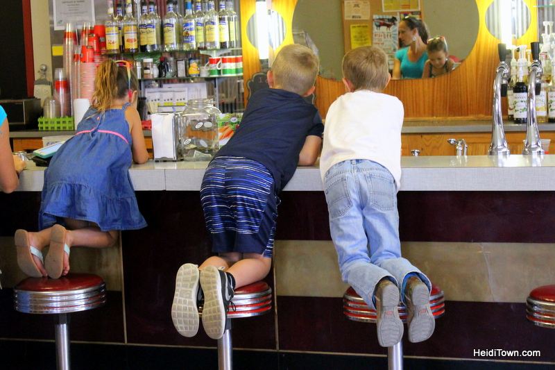Meet Me in Meeker Part One. Meeker Drugs soda fountain. HeidiTown.com