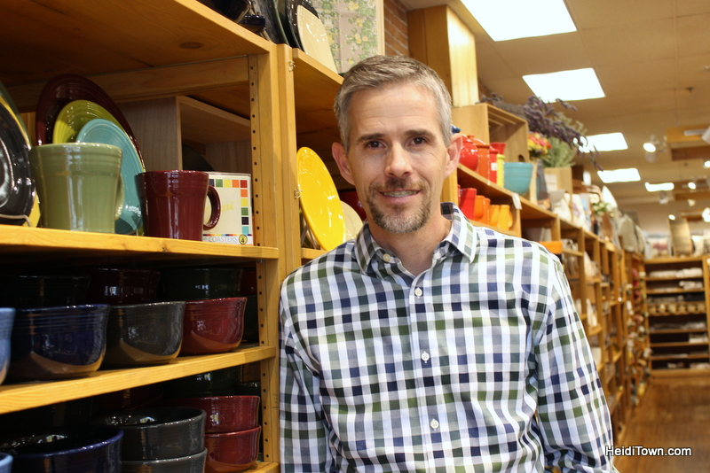 The Mayor Goes Shopping in the Choice City, Fort Collins, Colorado, The Cupboard owner, Jim Hewitt