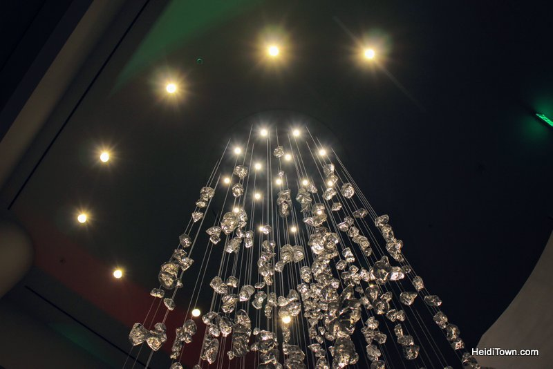 A Holiday Date Night in Denver With a Stay at Le Méridien. Chandelier at Le Méridien. HeidiTown.com