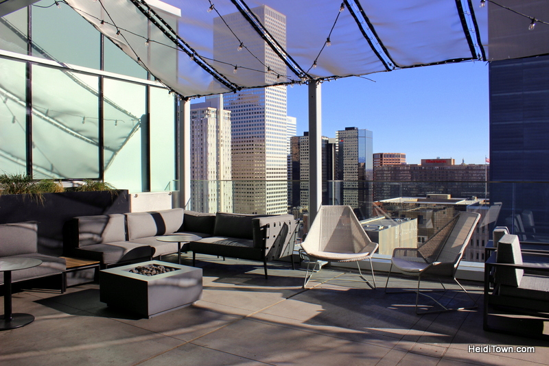 A Holiday Date Night in Denver With a Stay at Le Méridien. Roof top bar. HeidiTown.com
