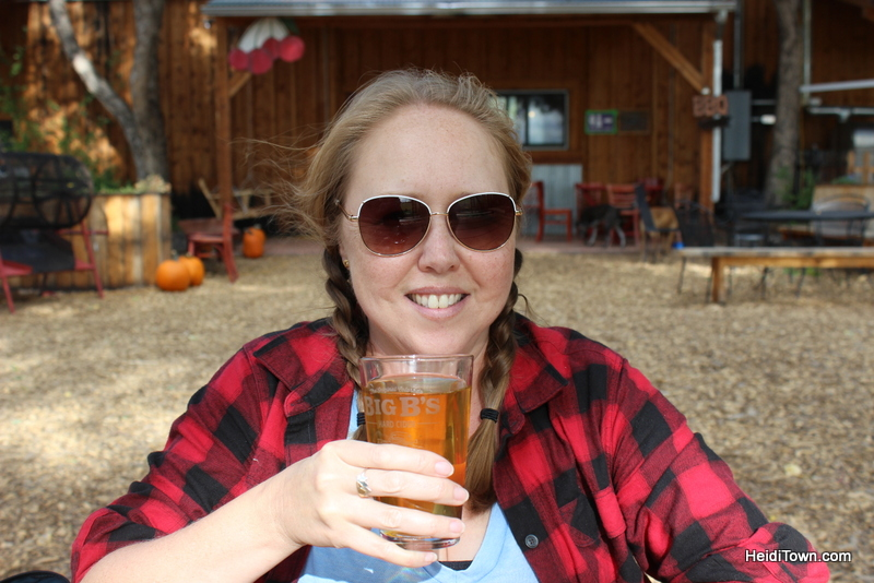 Heidi Kerr-Schlaefer enjoying a cider at Big B's. Photo by Ryan Schlaefer.