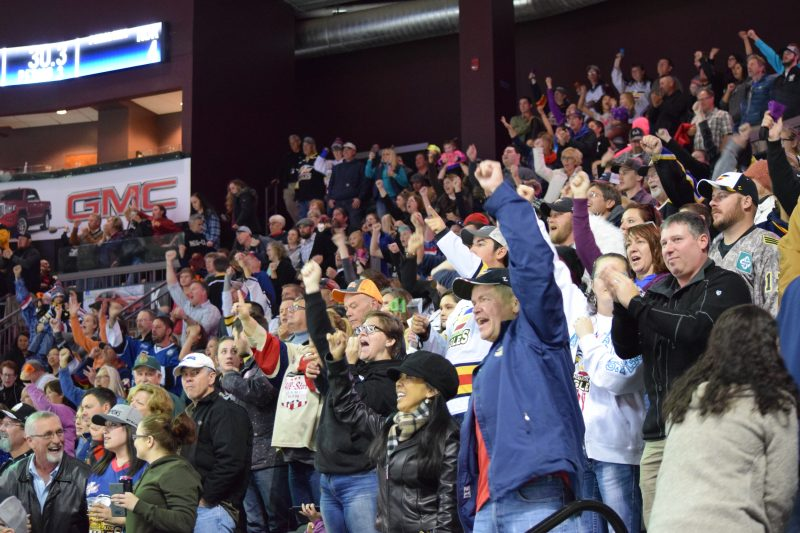 A Night Out With the Colorado Eagles, crowd shot, by Sierra Spiller