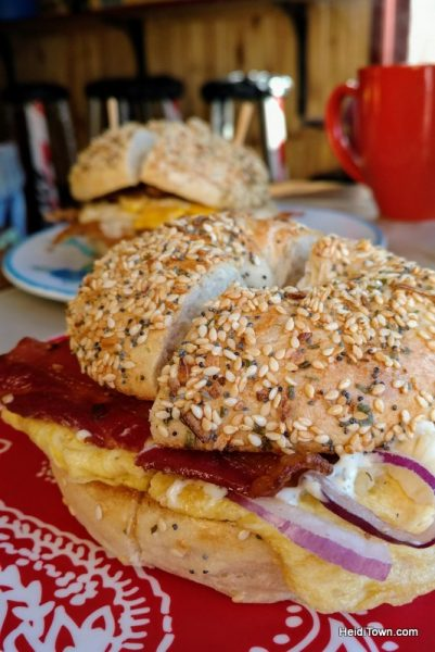 Eat All the Things A Delicious 3-Day Dining Guide to Crested Butte. Izzy's bagels. HeidiTown.com