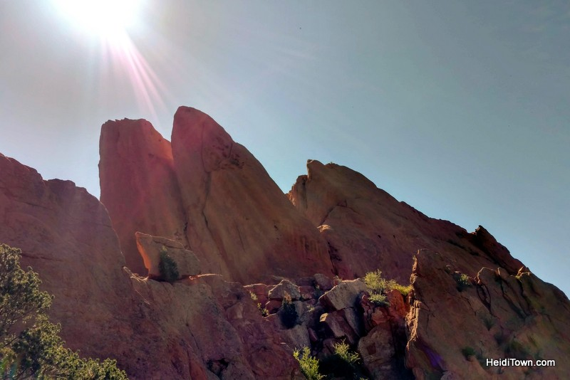 A Visit to Garden of the Gods in Colorado Springs, sun rays. HeidiTown.com