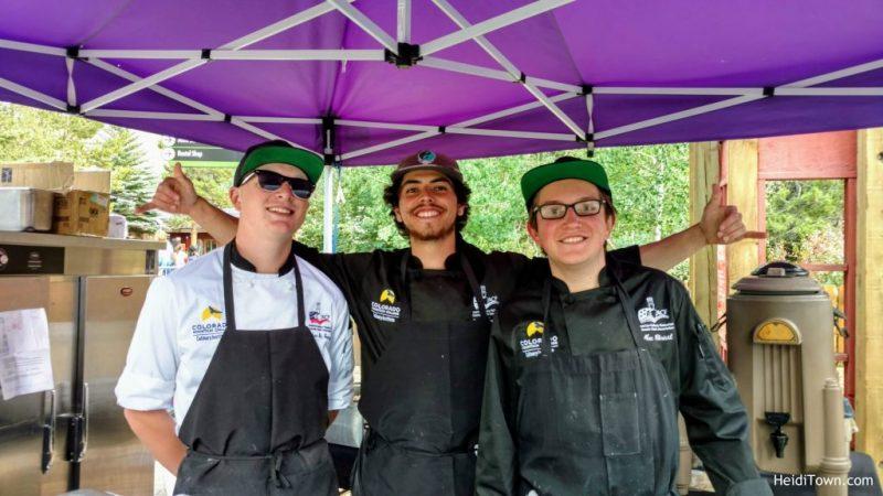 Stay in Keystone, Colorado. Colorado Mountain College peach empanada crew. HeidiTown.com