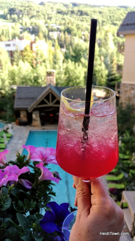 Treat Yourself to Vail, Colorado & the Four Seasons. The V on the balcony of The Remedy. HeidiTown