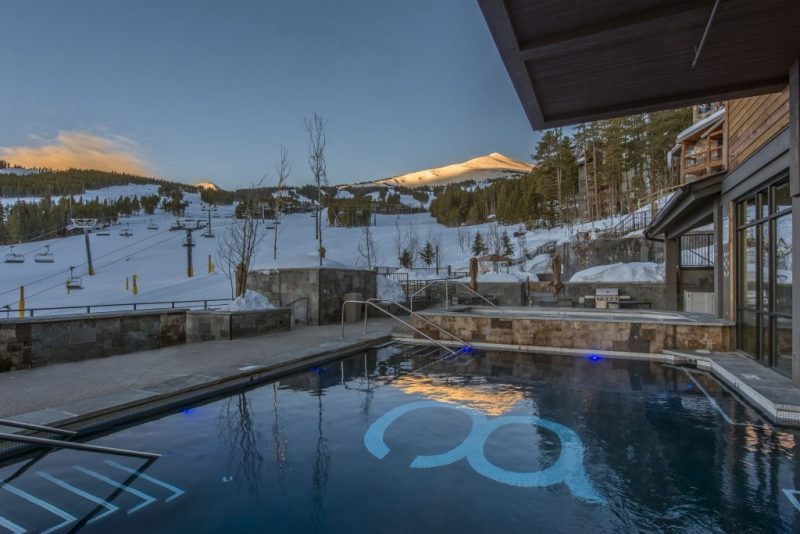 A Colorado Mountain Town for the Holidays. Grand Colorado at Peak 8 pool