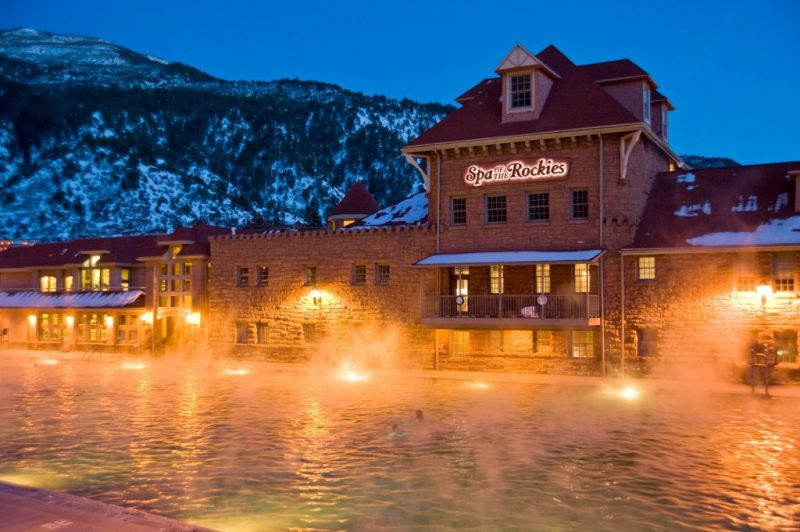 A Colorado Mountain Town for the Holidays. Photo Credit Glenwood Hot Springs