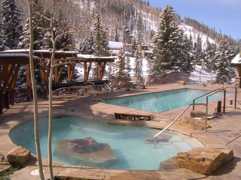 Antlers Vail pool-winter