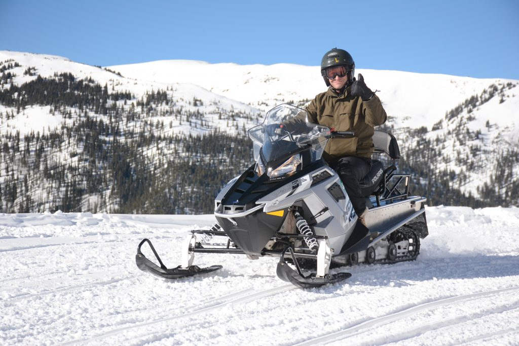 Snowmobiling in Leadville, Colorado It's Fun. HeidiTown.com Photo by White Mountain Snowmobile Tours 2